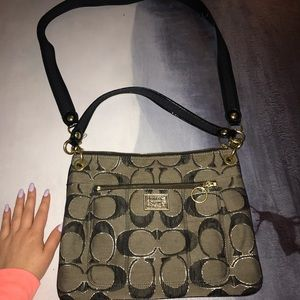 Black and Gold Coach Poppy purse